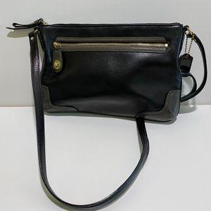 COACH Black Leather Clutch/Crossbody